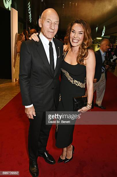 Sir Patrick Stewart and Sunny Ozell attend the GQ Men Of The Year Awards 2016 at the Tate Modern on September 6, 2016 in London, England.