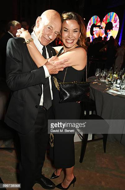 Sir Patrick Stewart and Sunny Ozell attend the GQ Men Of The Year Awards 2016 after party at the Tate Modern on September 6 2016 in London England
