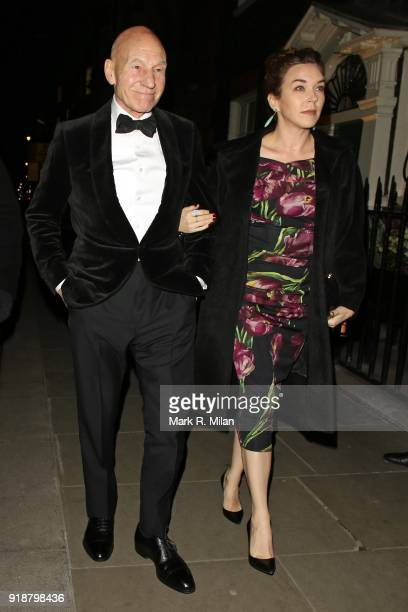 Sir Patrick Stewart attending the Dunhill and Dylan Jones PreBAFTA Filmmakers Dinner on February 15 2018 in London England