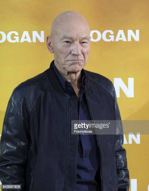 Sir Patrick Stewart attends a photocall for 'Logan' at the Villamagna Hotel on February 20 2017 in Madrid Spain