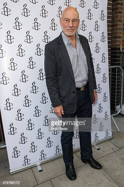 Sir Patrick Stewart attends Amnesty International UK celebrate 10th anniversary of headquaters on June 3 2015 in London England