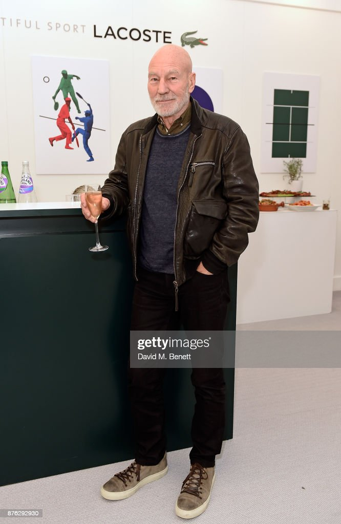 Sir Patrick Stewart attends Lacoste VIP Lounge at the 2017 ATP World Tour Tennis Finals on November 19, 2017 in London, United Kingdom.