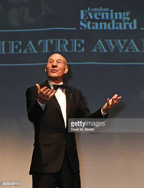 Sir Patrick Stewart attends the 62nd London Evening Standard Theatre Awards, recognising excellence from across the world of theatre and beyond, at...