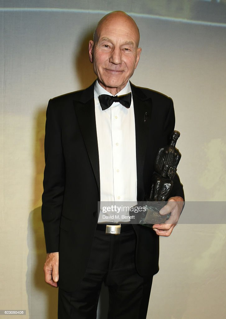 Sir Patrick Stewart attends The 62nd London Evening Standard Theatre Awards after party, recognising excellence from across the world of theatre and beyond, at The Old Vic Theatre on November 13, 2016 in London, England.
