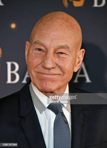 Sir Patrick Stewart attends the BAFTA Film Gala at the The Savoy Hotel ahead of the EE British Academy Film Awards this Sunday on February 8 2019 in...
