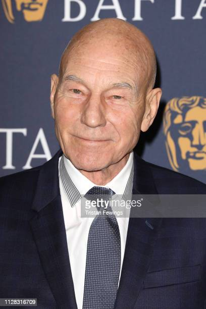 Sir Patrick Stewart attends the BAFTA Film Gala at the The Savoy Hotel ahead of the EE British Academy Film Awards this Sunday on February 08 2019 in...