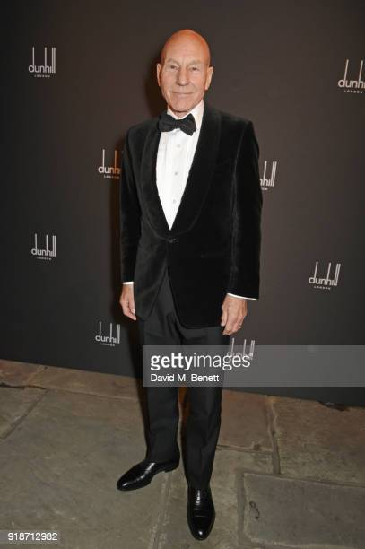 Sir Patrick Stewart attends the Dunhill GQ preBAFTA filmmakers dinner and party cohosted by Andrew Maag Dylan Jones at Bourdon House on February 15...
