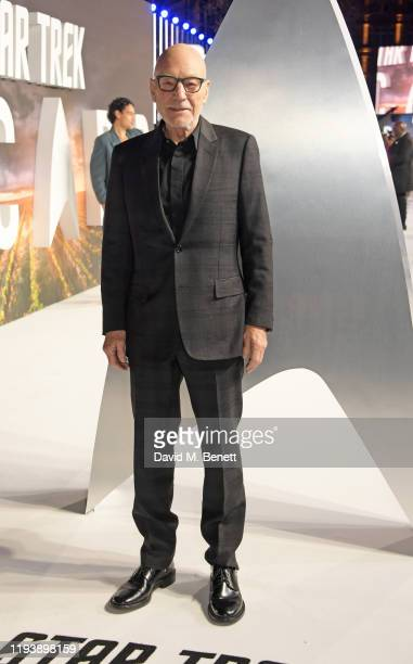 Sir Patrick Stewart attends the European Premiere of Amazon Original Star Trek Picard at Odeon Luxe Leicester Square on January 15 2020 in London...