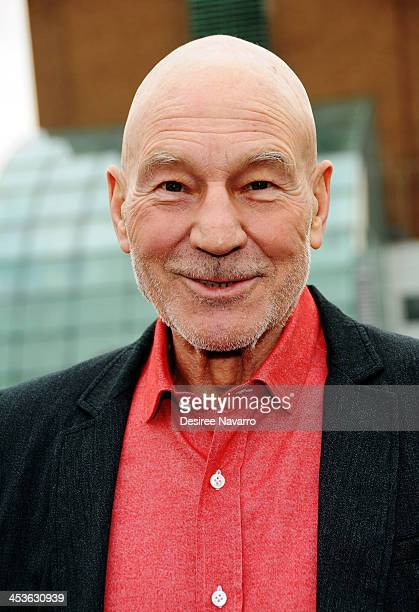 """Sir Patrick Stewart attends the Gray Line NYC """"Ride Of Fame"""" induction ceremony for Patrick Stewart at Pier 78 on December 4, 2013 in New York City."""