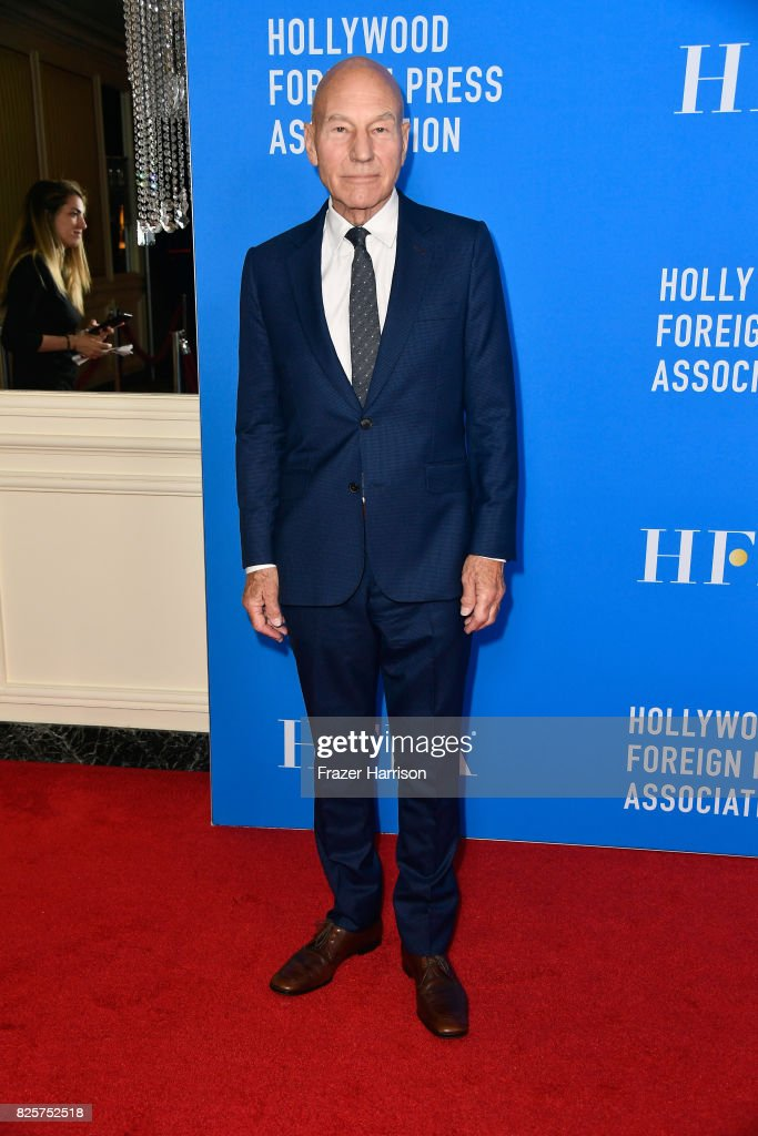 Sir Patrick Stewart attends the Hollywood Foreign Press Association's Grants Banquet at the Beverly Wilshire Four Seasons Hotel on August 2, 2017 in Beverly Hills, California.