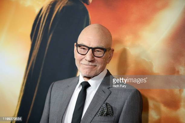 """Sir Patrick Stewart attends the premiere of CBS All Access' """"Star Trek: Picard"""" at ArcLight Cinerama Dome on January 13, 2020 in Hollywood,..."""