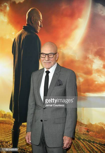 Sir Patrick Stewart attends the premiere of Star Trek Picard at ArcLight Cinerama Dome on January 13 2020 in Hollywood California