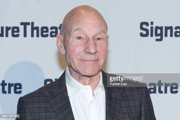Sir Patrick Stewart attends the Signature Theatre 2018 Gala at Signature Theatre Company's The Pershing Square Signature Center on March 12 2018 in...