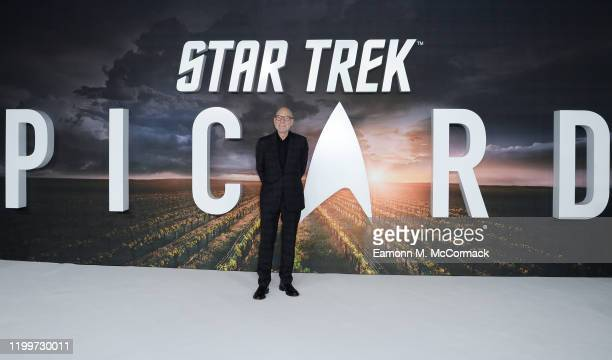 """Sir Patrick Stewart attends the """"Star Trek Picard"""" UK Premiere at Odeon Luxe Leicester Square on January 15, 2020 in London, England."""