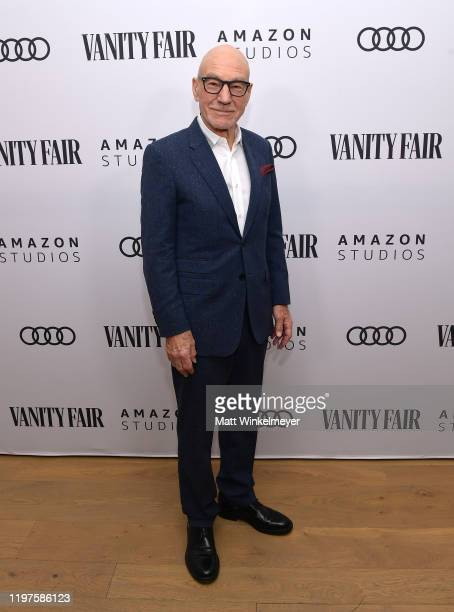 Sir Patrick Stewart attends Vanity Fair Amazon Studios and Audi Celebrate The 2020 Awards Season at San Vicente Bungalows on January 04 2020 in West...