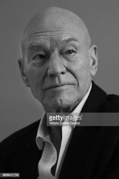 Sir Patrick Stewart poses during a portrait session on day three of the 14th annual Dubai International Film Festival held at the Madinat Jumeriah...