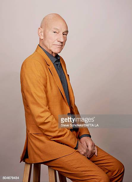 Sir Patrick Stewart poses for a portrait at the BAFTA Los Angeles Awards Season Tea at the Four Seasons Hotel on January 9 2016 in Los Angeles...