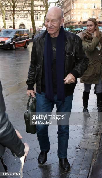 Sir Patrick Stewart seen at Global Radio Studios for Heart Breakfast on February 06 2019 in London England