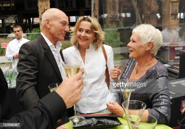 Sir Patrick Stewart Sinead Cusack and Dame Judi Dench celebrated in style at The Old Vic 192 Summer Party supported by W Doha at Battersea Power...