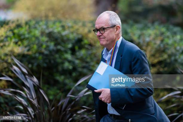 Sir Patrick Vallance the governments chief scientific adviser arrives in Downing Street in central London ahead of a Cabinet meeting on 17 March 2020...