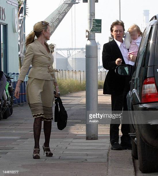 Sir Paul and Heather McCartney with baby Beatrice Milly go out to a noodle bar by the seaside After lunch Heather spoke of her terror of her baby...