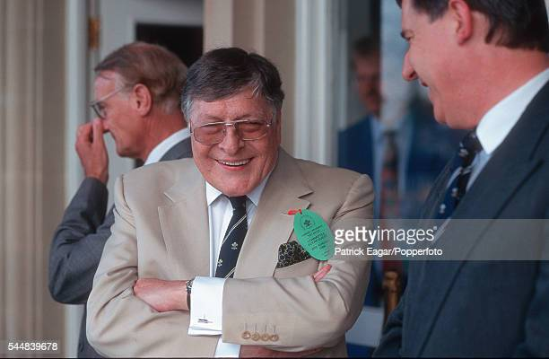 Sir Paul Getty watching the 3rd Test match between England and Pakistan at The Oval London 26th August 1996