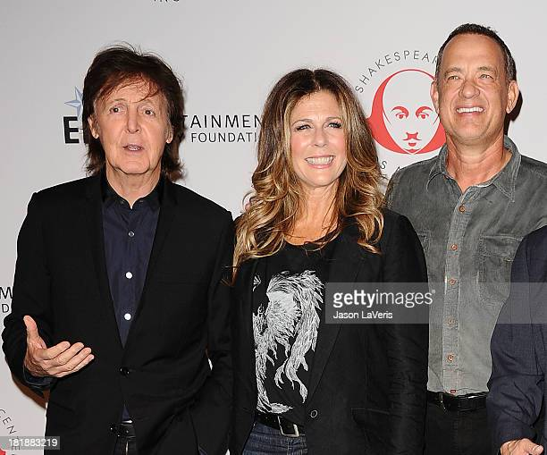 Sir Paul McCartney actress Rita Wilson and actor Tom Hanks attend the 23rd annual Simply Shakespeare benefit reading of The Two Gentlemen of Verona...