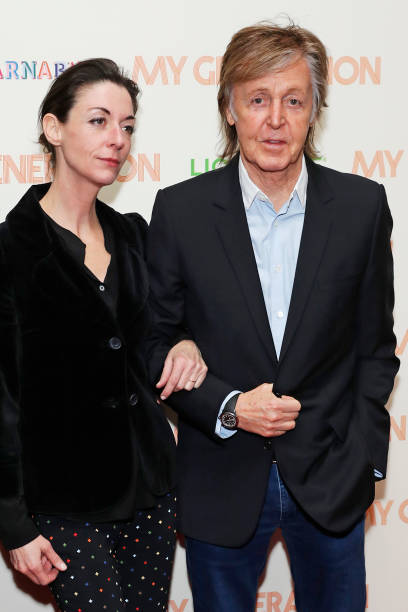 Sir Paul McCartney R And Daughter Mary Attend A Special Screening Of
