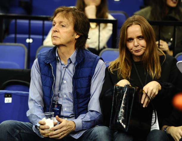 Sir Paul McCartney And Daughter Stella During The NBA Global Games London 2014 Match At