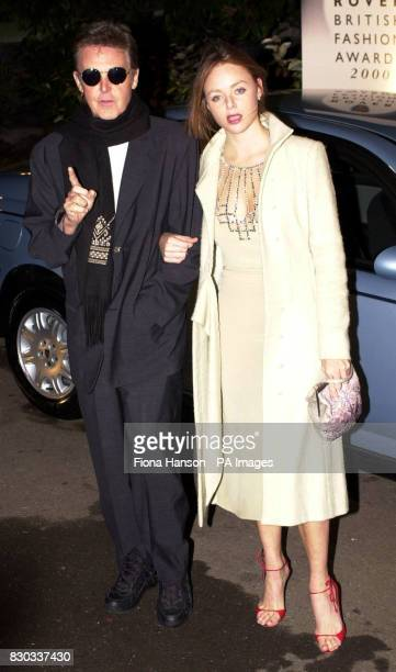 Sir Paul McCartney and designer daughter Stella McCartney arrive at the Rover British Fashion Awards 2000 at the Natural History Museum in London *...