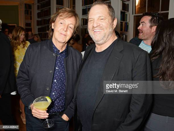 Sir Paul McCartney and Harvey Weinstein attend The London 2014 Stella McCartney Green Carpet Collection during London Fashion Week at The Royal...