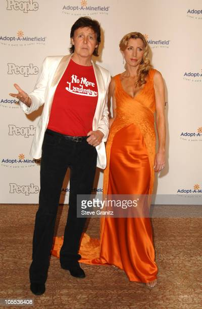 Sir Paul McCartney and Heather Mills McCartney during Fifth Annual Adopt-A-Minefield Gala at Beverly Hilton Hotel in Beverly Hills, California,...