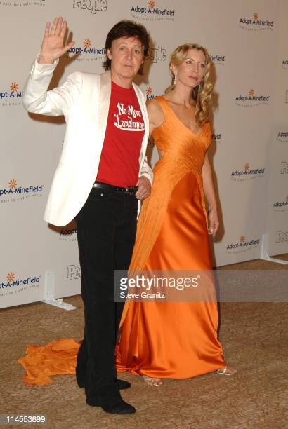 Sir Paul McCartney and Heather Mills McCartney during Fifth Annual AdoptAMinefield Gala at Beverly Hilton Hotel in Beverly Hills California United...
