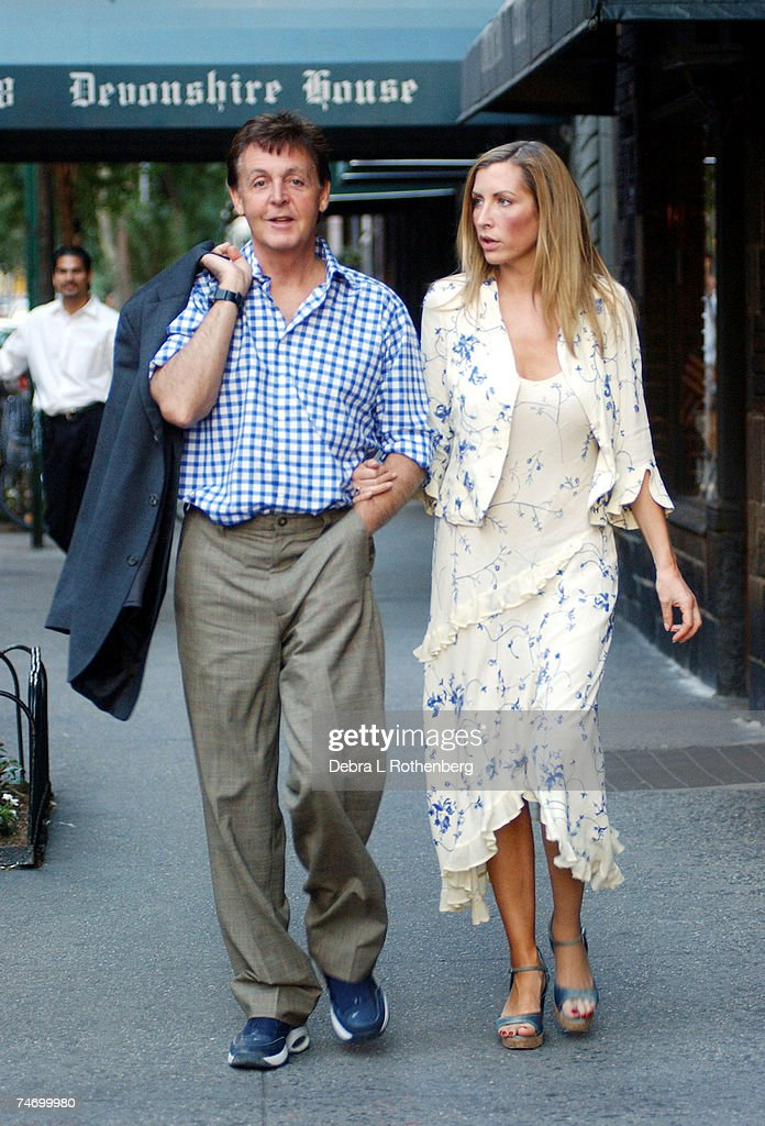 Sir Paul McCartney And His Wife Heather Mills At The