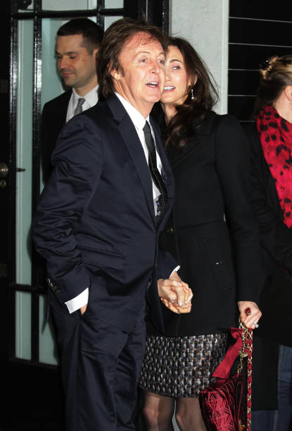 Sir Paul McCartney And His Wife Nancy Shevell During The Stella Bruton Street Store Christmas