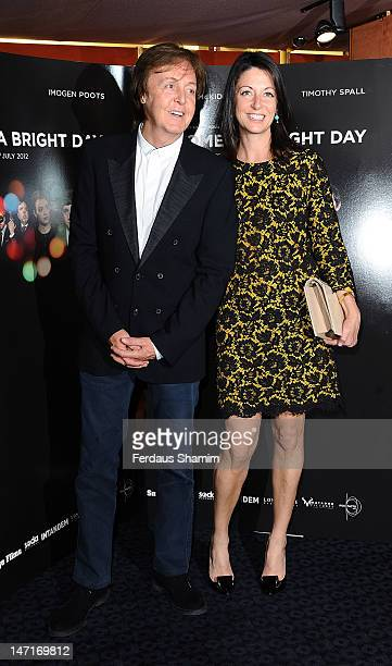 Sir Paul McCartney and Mary McCartney attend a screening of 'Comes A Bright Day' at The Curzon Mayfair on June 26, 2012 in London, England.