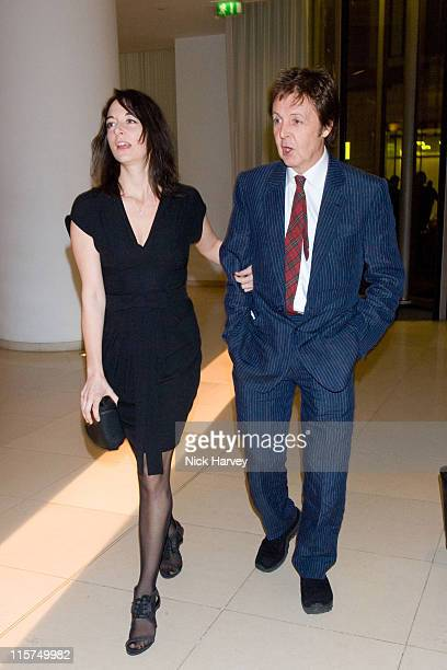 Sir Paul McCartney and Mary McCartney during 2007 Burns Night Hosted by Ewan McGregor Inside at St Martins Lane Hotel in London Great Britain