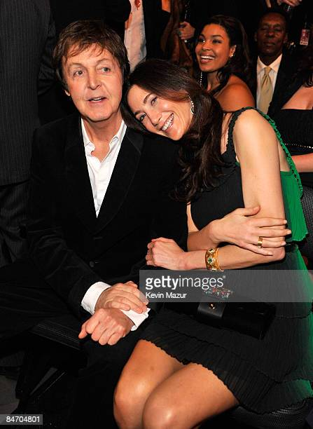 LOS ANGELES CA FEBRUARY 08 Sir Paul McCartney and Nancy Shevell at the 51st Annual GRAMMY Awards at the Staples Center on February 8 2009 in Los...