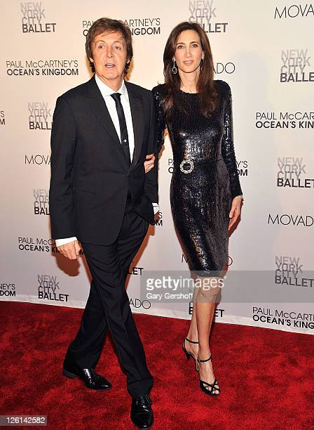 Sir Paul McCartney and Nancy Shevell attend the 2011 New York City Ballet Fall Gala at the David Koch Theatre at Lincoln Center on September 22 2011...