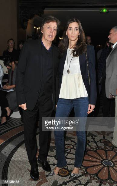 Sir Paul McCartney and Nancy Shevell attend the Stella McCartney Spring / Summer 2013 show as part of Paris Fashion Week on October 1 2012 in Paris...