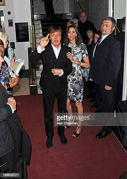 Sir Paul McCartney and Nancy Shevell sighting at BAFTA Piccadilly for VIP screening on May 15 2013 in London England