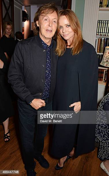 Sir Paul McCartney and Stella McCartney attend The London 2014 Stella McCartney Green Carpet Collection during London Fashion Week at The Royal...