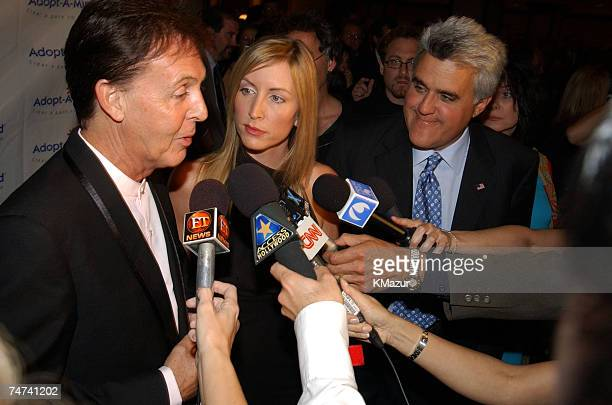 Sir Paul McCartney and wife Heather Mills McCartney with Jay Leno at the The Century Plaza Hotel in Century City California