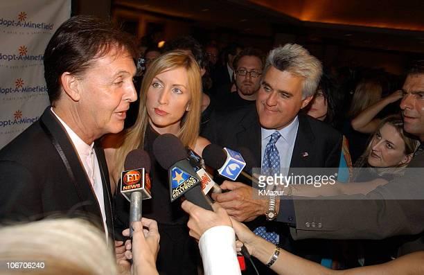 Sir Paul McCartney and wife Heather Mills McCartney with Jay Leno