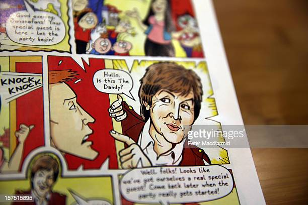 Sir Paul McCartney appears in the last ever print edition of The Dandy children's comic on December 4 2012 in London England DC Thompson publishers...