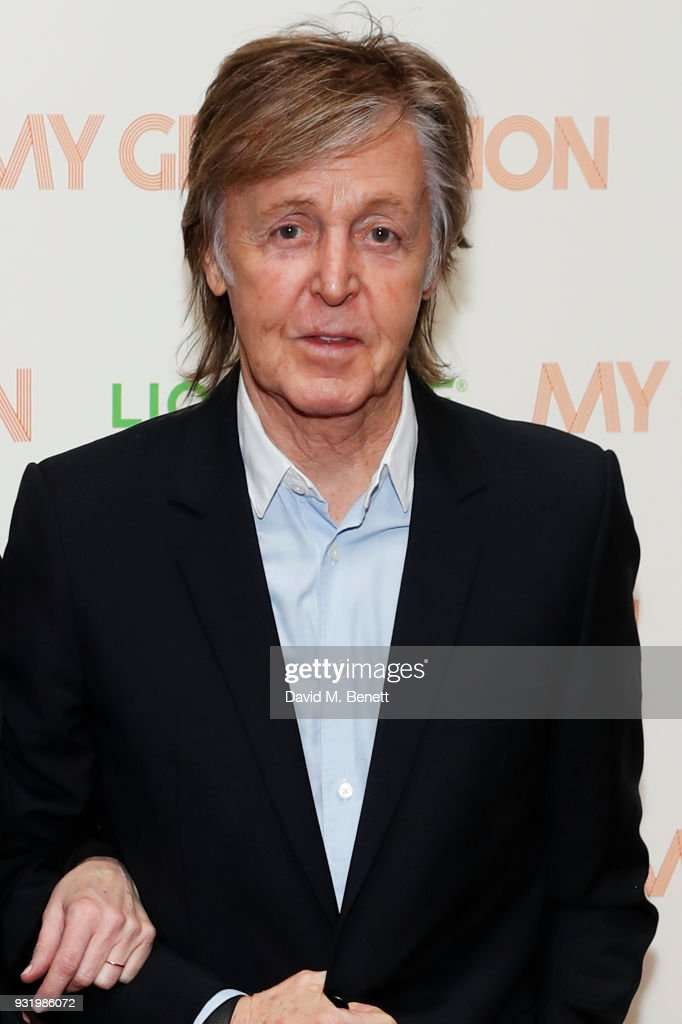 Sir Paul McCartney attends a special screening of 'My Generation' at the BFI Southbank on March 14, 2018 in London, England.