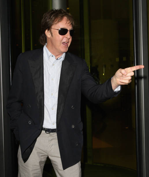 Sir Paul McCartney Attends Simon Aboud Book Launch Party At The St Martins Lane Hotel On