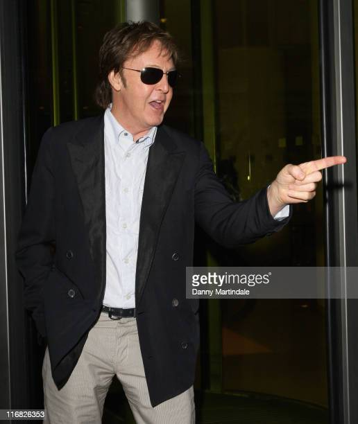 Sir Paul McCartney attends Simon Aboud book launch party at the St Martins Lane Hotel on June 8 2009 in London England