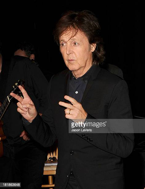 Sir Paul McCartney attends the 23rd annual Simply Shakespeare benefit reading of The Two Gentlemen of Verona at The Eli and Edythe Broad Stage on...