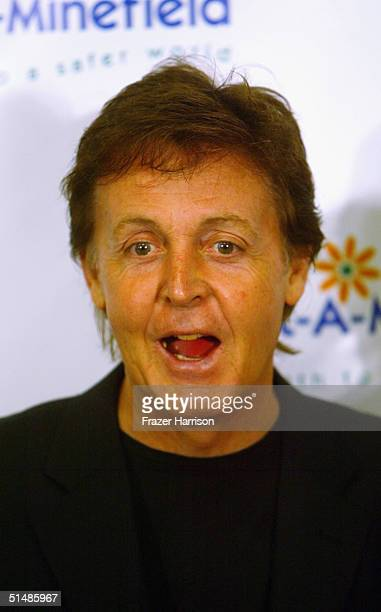 Sir Paul McCartney attends the Annual AdoptAMinefield Gala hosted by Paul McCartney at the Century Plaza Hotel on October 15 2004 in Century City...
